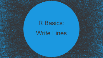 Write Lines of Text to TXT File in R (3 Examples)