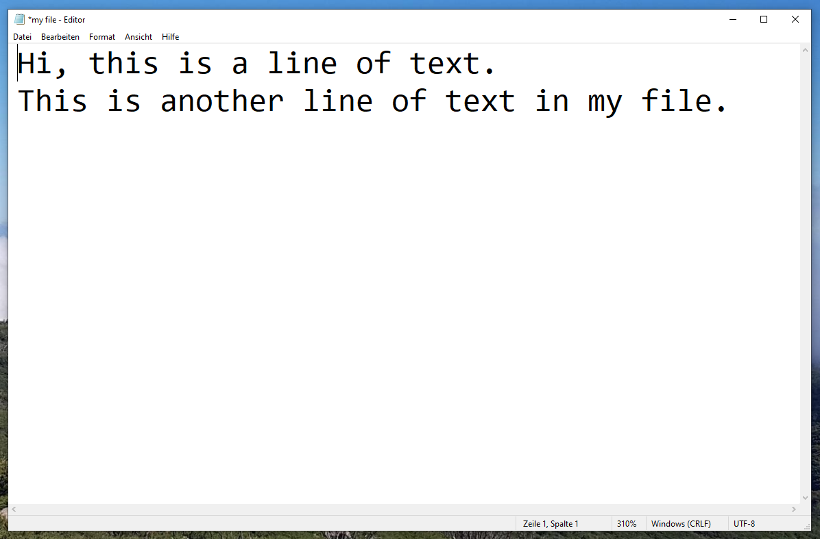 TXT file example