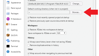 Change Default Working Directory in R & RStudio (Step-by-Step Example)