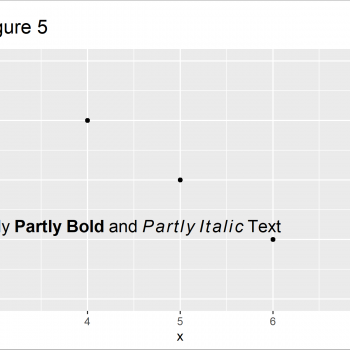 Add Bold & Italic Text to ggplot2 Plot in R (4 Examples)
