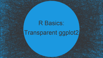 ggplot2 Plot with Transparent Background in R (2 Examples)