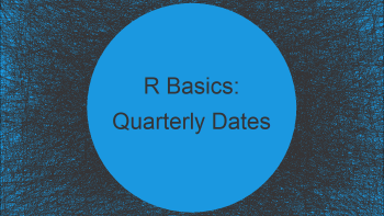Convert Dates to Year/Quarter Format in R (3 Examples)