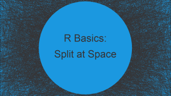 Split Character String at Whitespace in R (2 Examples)