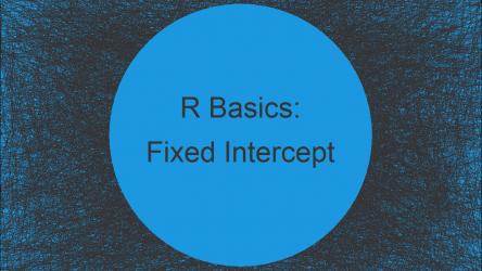 Estimate Linear Model with Fixed Intercept in R (2 Examples)