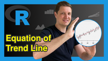 Get Equation of Linear Trend Line in R (Example)