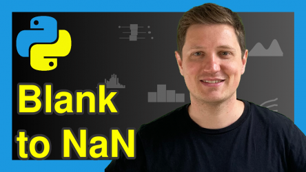 Replace Blank Values by NaN in pandas DataFrame in Python (Example)