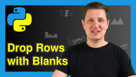 Drop Rows with Blank Values from pandas DataFrame in Python (3 Examples)