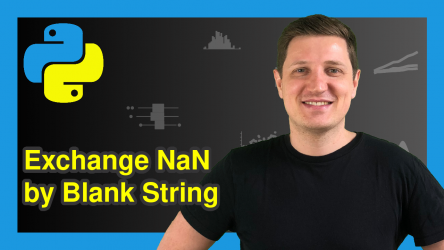 Replace NaN by Empty String in pandas DataFrame in Python (Example)