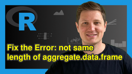 R Error in aggregate.data.frame() : arguments must have same length (Example)