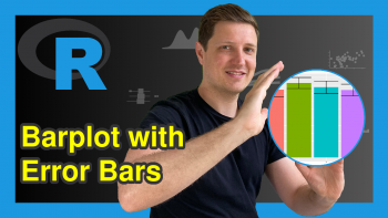 Add Standard Error Bars to Barchart in R (2 Examples)
