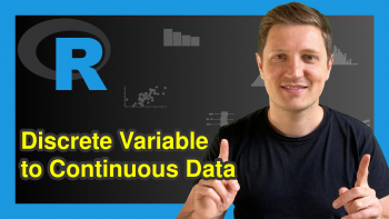 Convert Discrete Factor to Continuous Variable in R (Example)