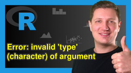 R Error in FUN : invalid 'type' (character) of argument (2 Examples)
