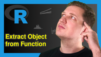 Make Object Created within Function Usable Outside in R (2 Examples)