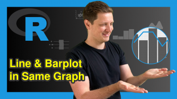 Combine ggplot2 Line & Barchart with Double-Axis in R (2 Examples)