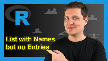 Create List with Names but no Entries in R (Example)