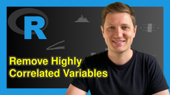 Remove Highly Correlated Variables from Data Frame in R (Example)