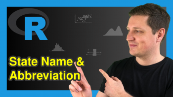 State Name & Abbreviation in R (2 Examples)