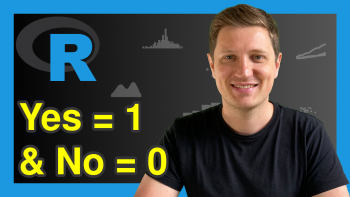 Change Yes to 1 & No to 0 in R (Example)