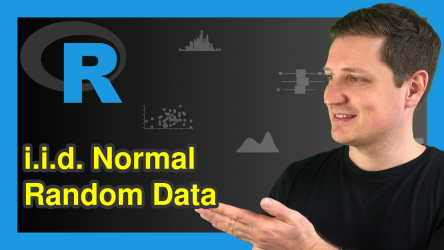 Generate Matrix with i.i.d. Normal Random Variables in R (2 Examples)