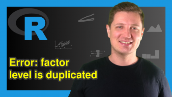 R Error in `levels<-`(`*tmp*`, value = as.character(levels)) : factor level is duplicated