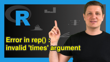 R Error in rep(X) : invalid 'times' argument (2 Examples)