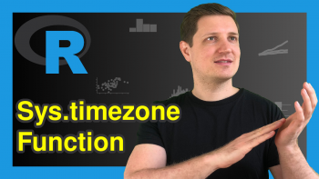 Sys.timezone Function in R (Example) | Get Name of Current Time Zone