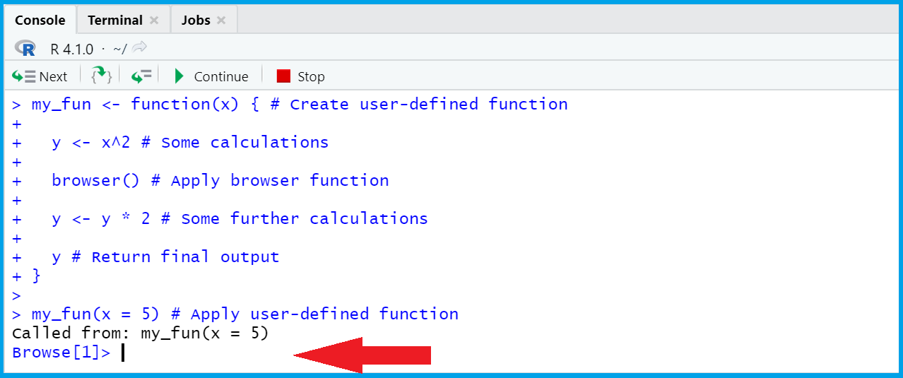 browser function in r