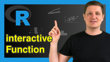 interactive() Function in R (Example) | Test if R is Running Interactively