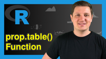 prop.table Function in R (3 Examples)