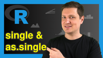 single & as.single Functions in R (2 Examples)